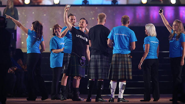 Opening the Commonwealth Games